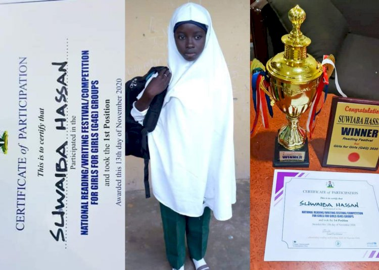 Katsina girl bags 1st position in National Reading Competition in Abuja