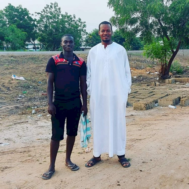 I spent my annual leave (the past 2 weeks) tracking down the young man in this photo. He is my Personal Savior._Umaru Sanda Amadu