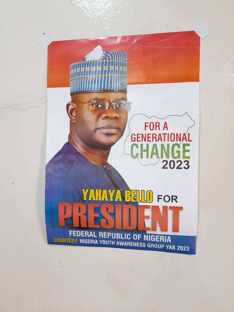 2023: Yahaya Bello Presidential Campaign Posters Flood Kano Streets