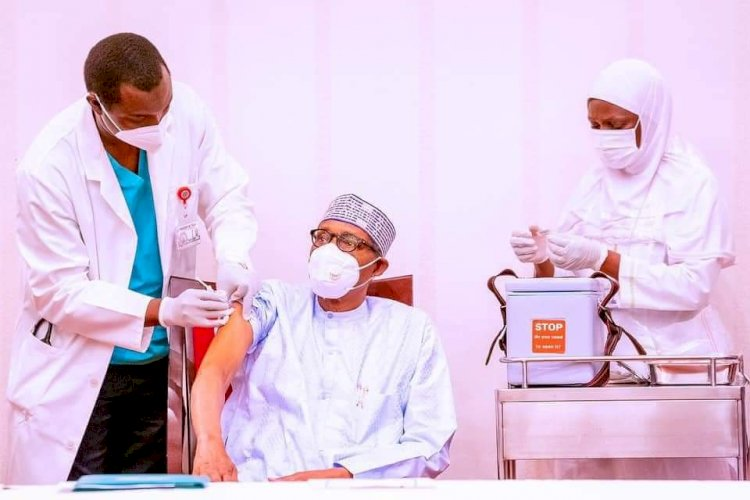 SPEECH OF HIS EXCELLENCY, MUHAMMADU BUHARI, PRESIDENT OF THE FEDERAL REPUBLIC OF NIGERIA, AT THE COVID-19 VACCINATION CEREMONY HELD AT THE BANQUET HALL OF THE STATE HOUSE ON SATURDAY, 6TH MARCH, 2021