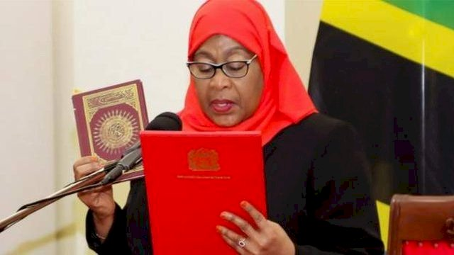 """I'll Kneel Before My Husband; He Is The Head Of My Family, It's For Love & Affection"" – Samia Tanzanian President"