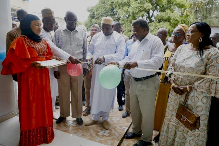 President Barrow Commissions Gynaecological Centre at Edward Francis Small Teaching Hospital