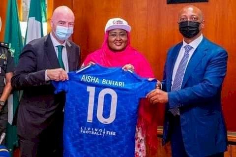 Aisha Buhari charges girls to embrace football
