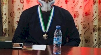 Sierra Leone: Another milestone for the Fula Chieftaincy Western Area. The symbol of Authority has been handover over to the Fulah Tribal Head Western Area