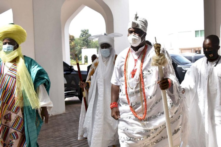 Buhari meets Ooni, Sultan, others at Aso Villa