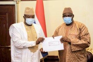 President Barrow receives Special Envoy Botche Cande