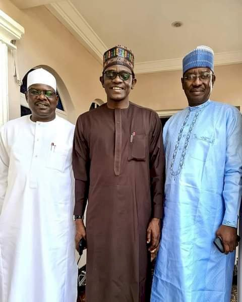Gov Buni plays host to Senators Ndume, Bomoi as consultation between party and National Assembly goes headway