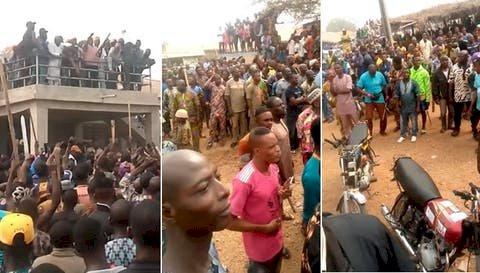 BREAKING Fulani Quit notice: Sunday Igboho, supporters storm Igangan to pursue fulani out of Igangan, in Oyo state, as fulani quiet notice expires