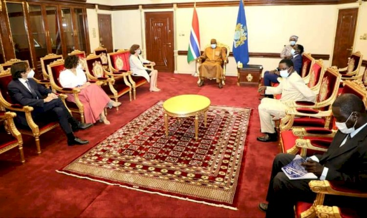 President Barrow calls for More Foreign Investment as He Receives European Ambassadors