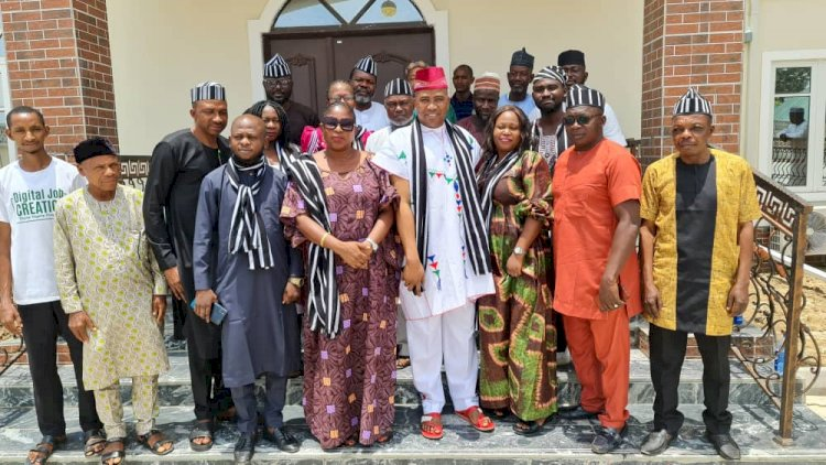 Tiv unity forum delegation paid a courtesy visit to the national president Mi yetti Allah kautal hore Fulani sociocultural association of Nigeria_Alh Dr Abdullahi Bello Bodejo